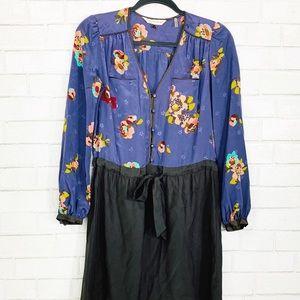 Rebecca Taylor | Floral Long Sleeve Dress